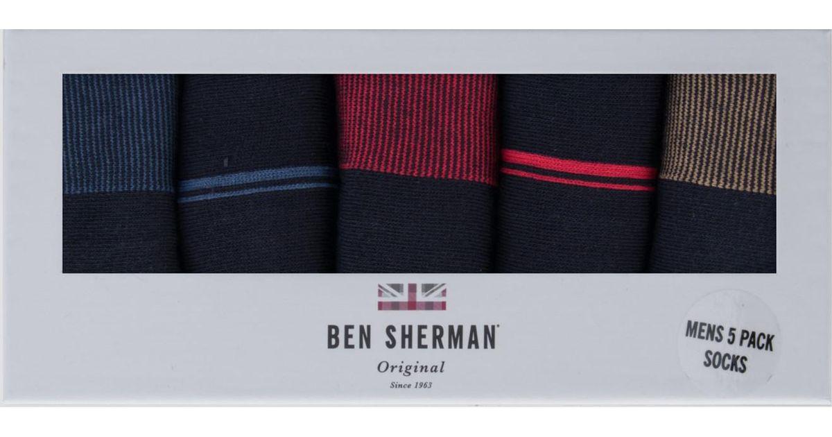 Pack de 3 para Hombre Ben Sherman Garrison Savannah Calcetines