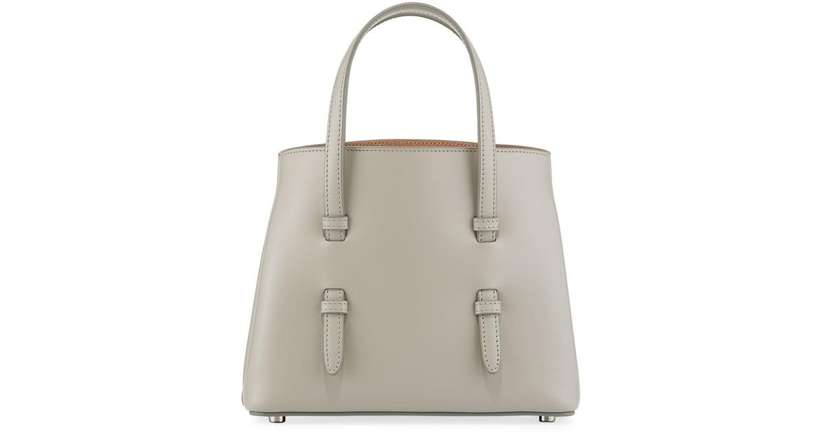 7e697dbb1 Lyst - Alaïa Smooth Leather Tote Bag With Flower Strap in Gray