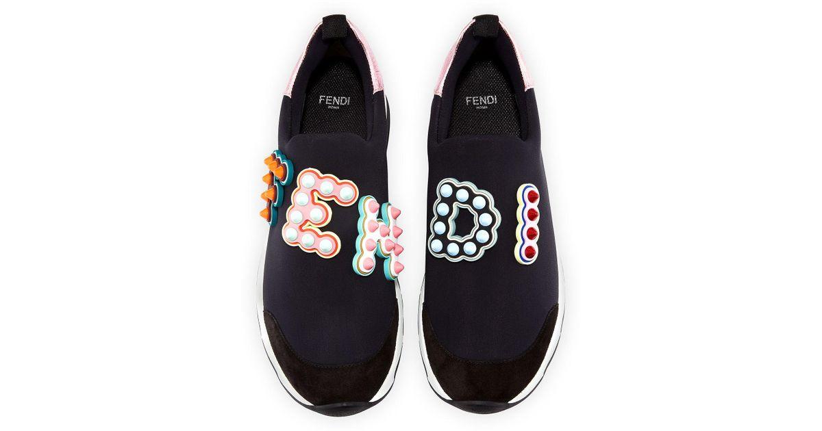 Fendi Synthetic Fun Flair Slip-on