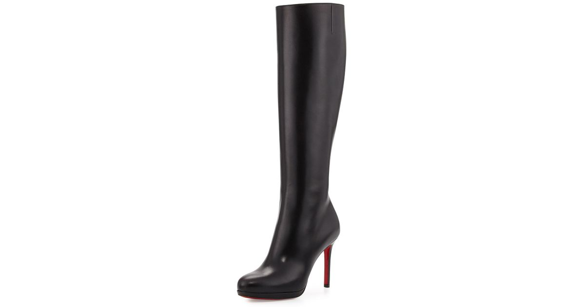 premium selection f05c6 8e1ad Christian Louboutin Brown Botalili Leather Red-sole Knee Boot