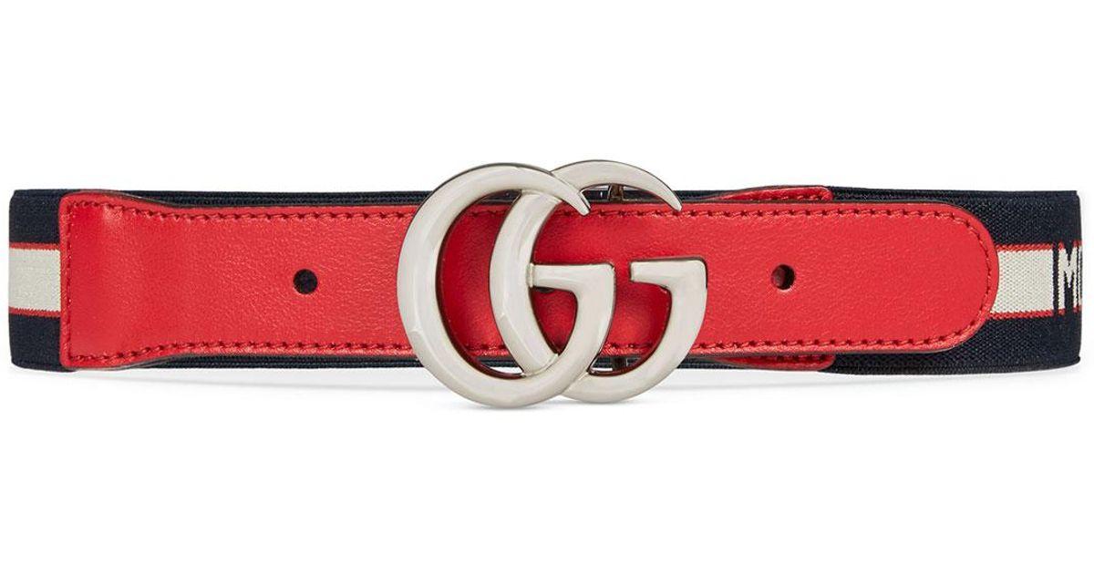 design senza tempo beb07 28b4e Gucci Red Kids' Cintura Monster Jacquard Elasticized Belt