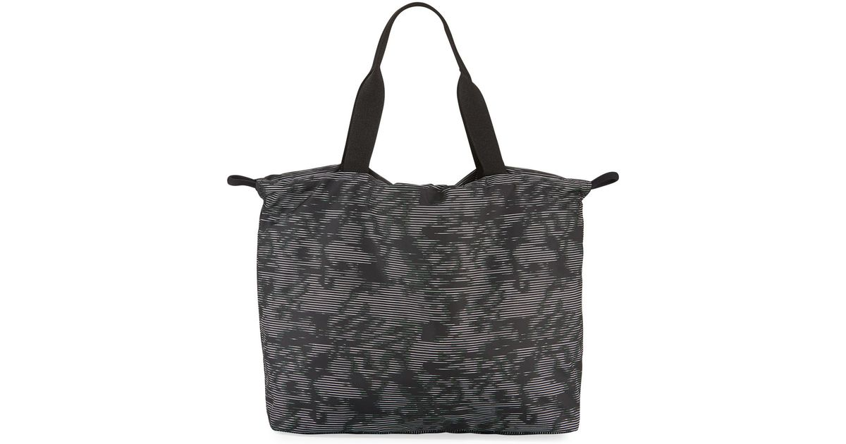 7d37b71fec60 Under Armour Cinch Printed Gym Tote Bag in Black - Lyst