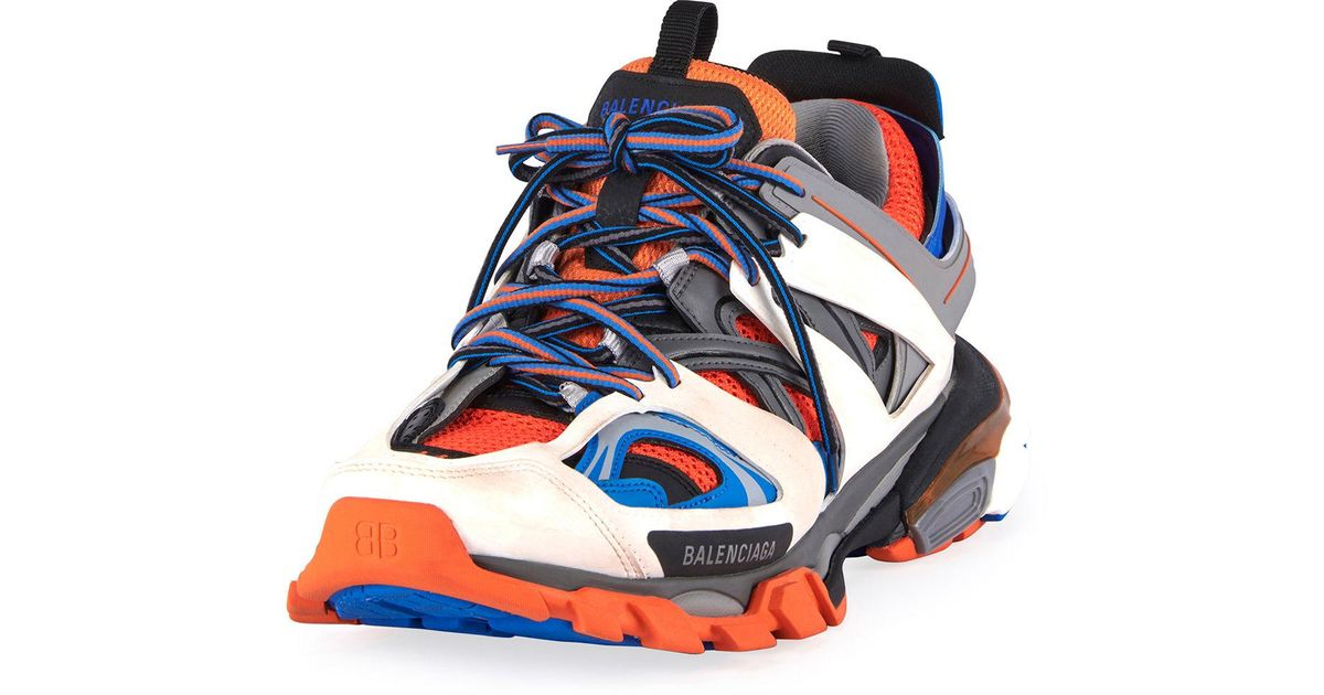 Balenciaga Synthetic Track Trainers in