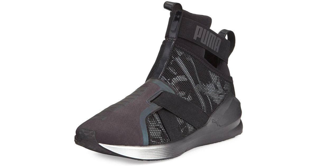dafe3636606143 Lyst - PUMA Fierce Knit High-top Sneaker in Black for Men