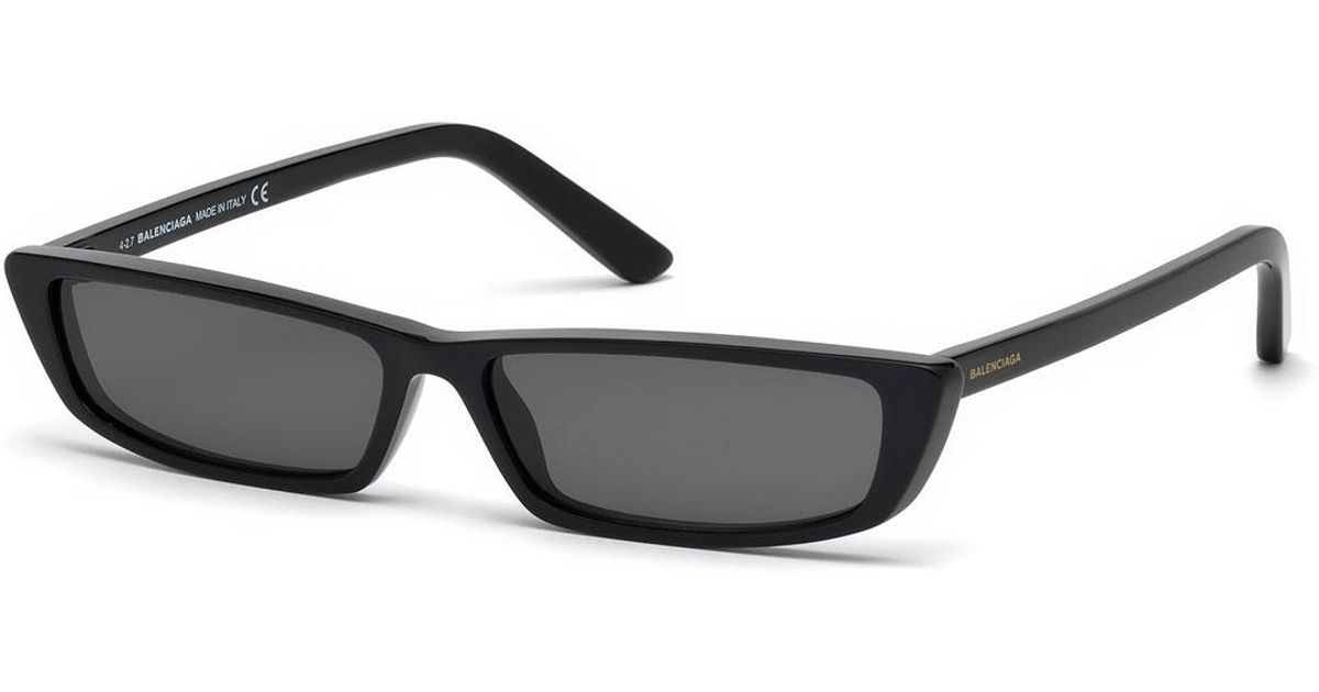 372550b398 Lyst - Balenciaga Runway Rectangle Sunglasses in Black for Men