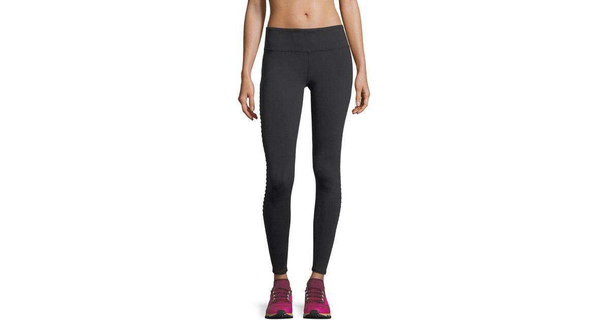 cf9d025fa8c1f Lyst - Alo Yoga Luminous Mesh Performance Leggings W/ Pintucking in Black