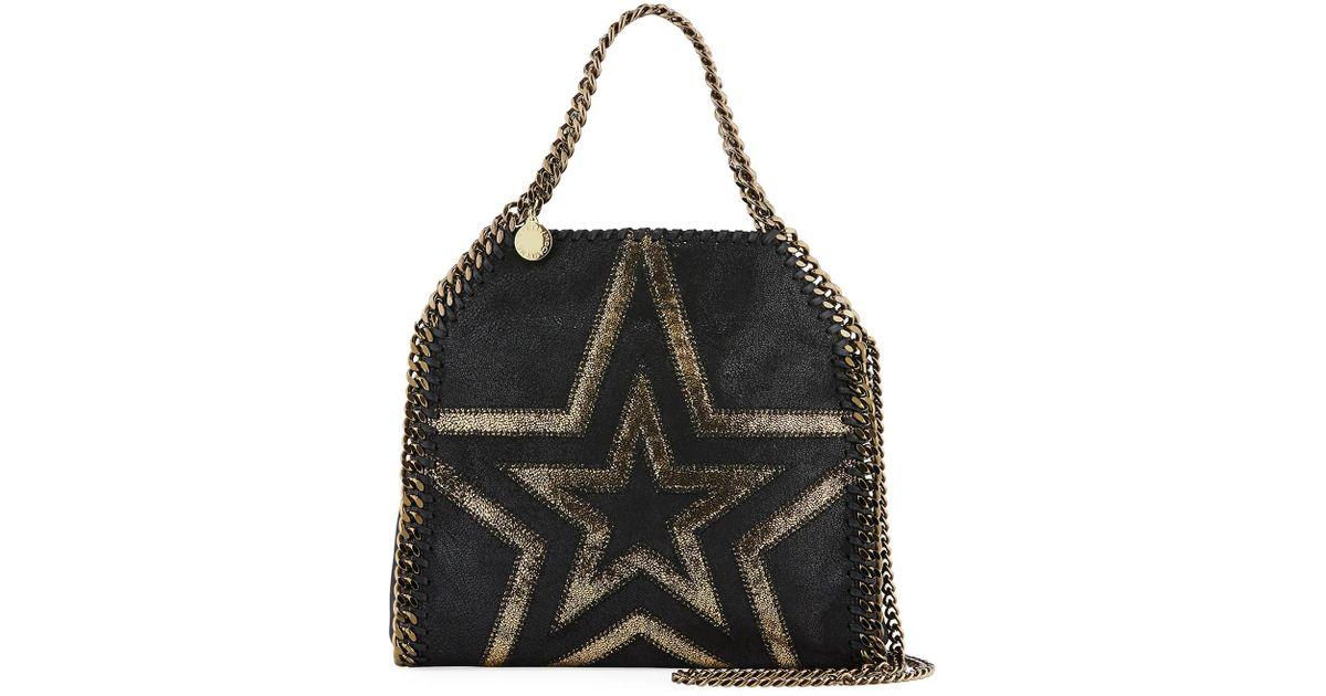 005681c420e1 Lyst - Stella McCartney Shaggy Gradient Star Mini Falabella Tote Bag in  Black