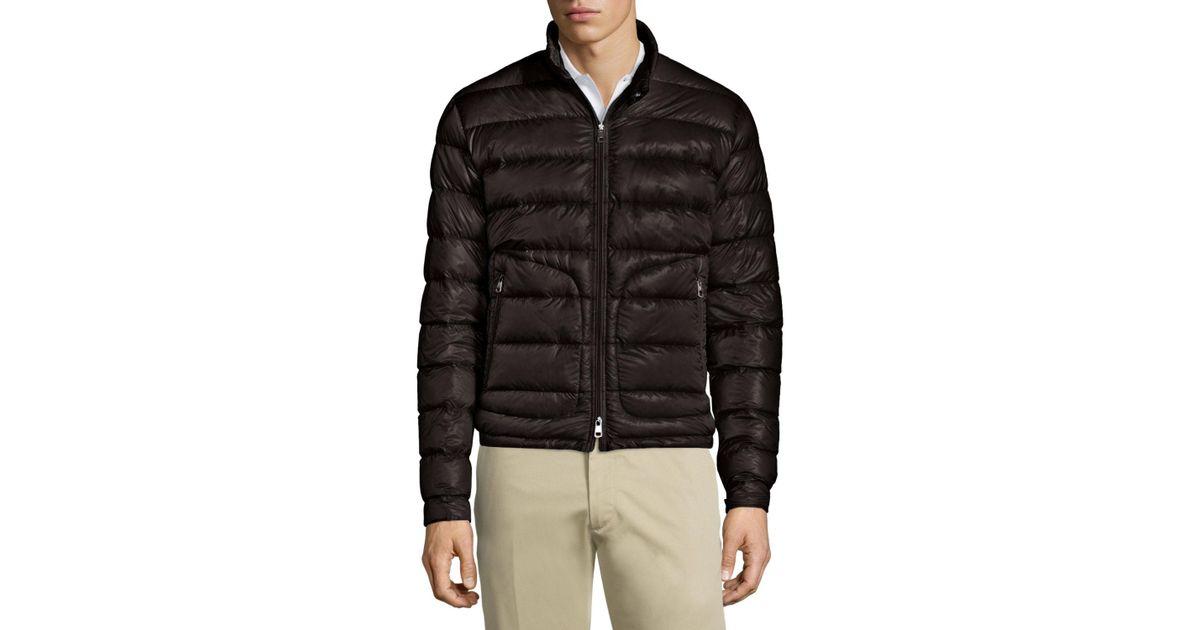 65d2bfe23 Moncler Black Acorus Quilted Down-Filled Jacket for men