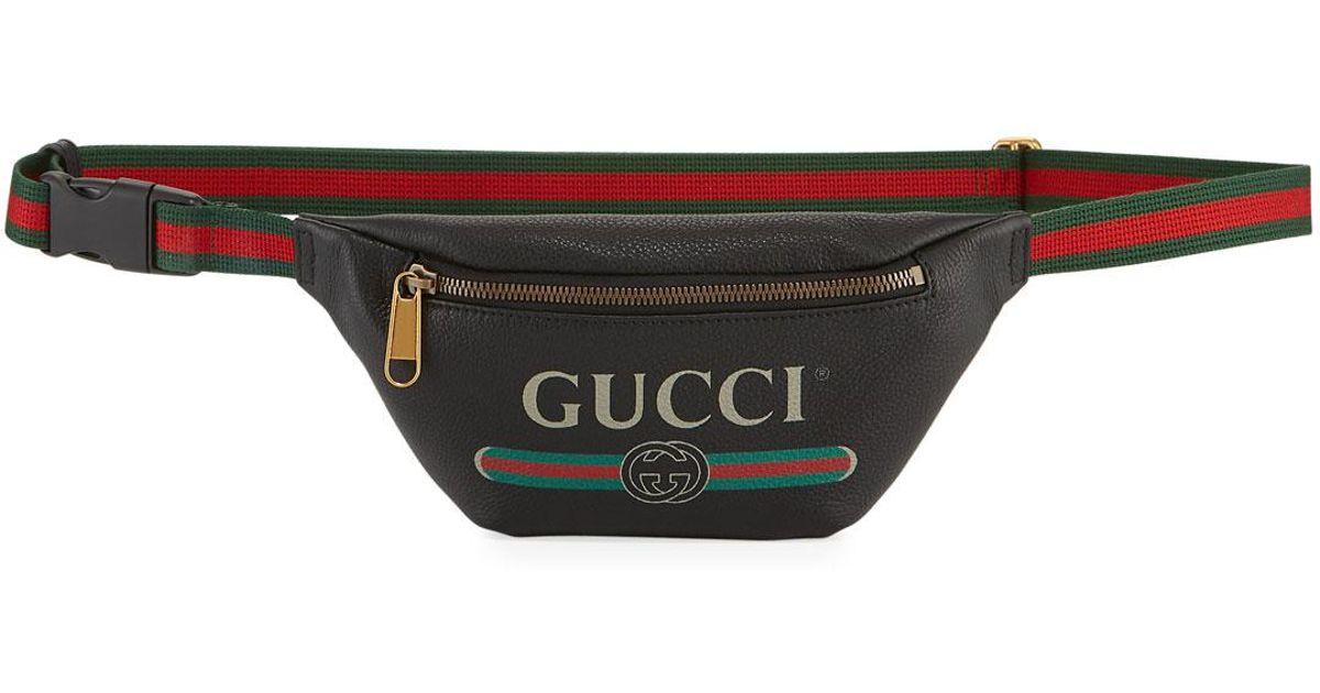 48ad2ba02c7 Lyst - Gucci Men s Small Retro Leather Belt Bag in Black
