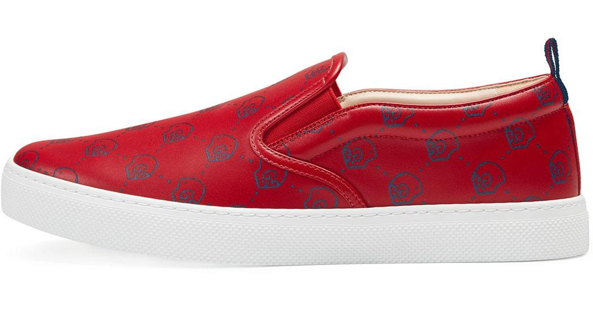 Gucci Ghost Leather Slip-on Sneaker in