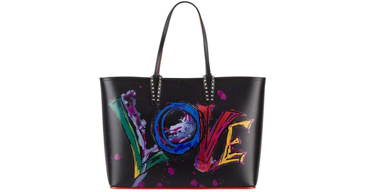 8c98ed1947 Christian Louboutin Cabata Calf Paris Love Tote Bag in Black - Lyst