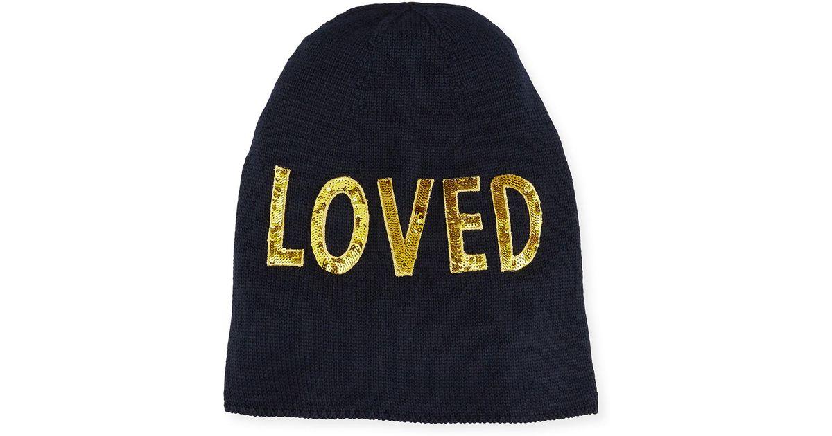 Lyst - Gucci Loved Knit Beanie Hat in Blue for Men c74565483da