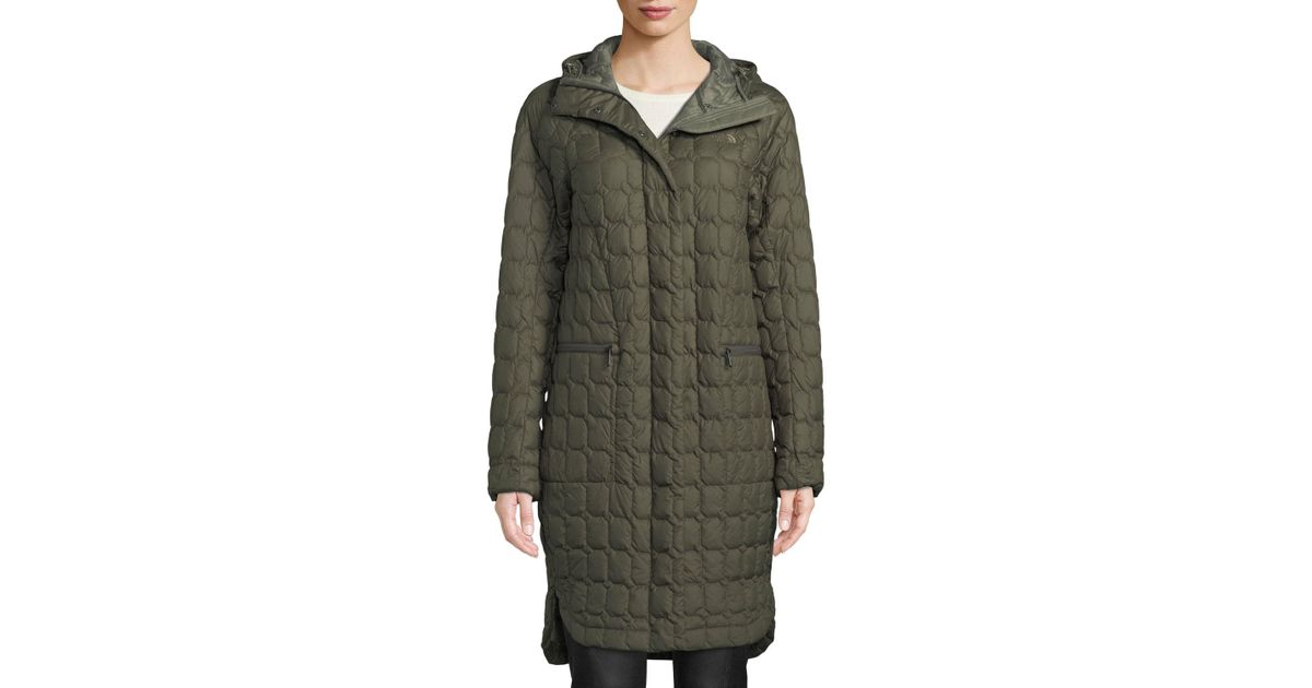 a56595b93 The North Face Green Thermoball Insulated Duster Coat W/ Hood