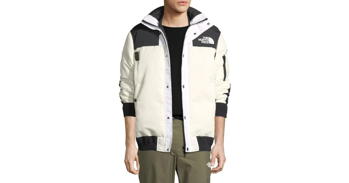 6e37aa620 Sacai White The North Face & #174 Puffer Bomber Coat for men