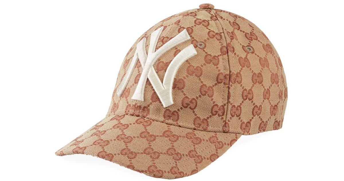 f9bbdfa3 Gucci Multicolor Men's New York Yankees Logo Baseball Cap - Crystal for men