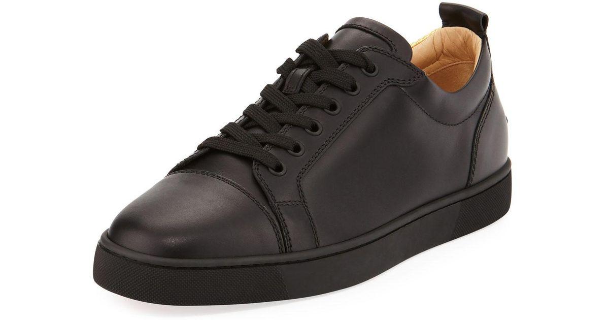 e4f6e135fc7 Lyst - Christian Louboutin Men s Rantulow Orlato Low-top Silk Sneakers in  Black for Men