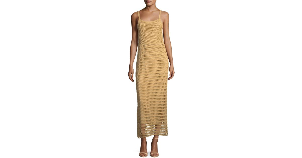 2883a02fc7 Lyst - Elizabeth and James Edna Hand-crochet Long Sleeveless Dress in Brown  - Save 40%