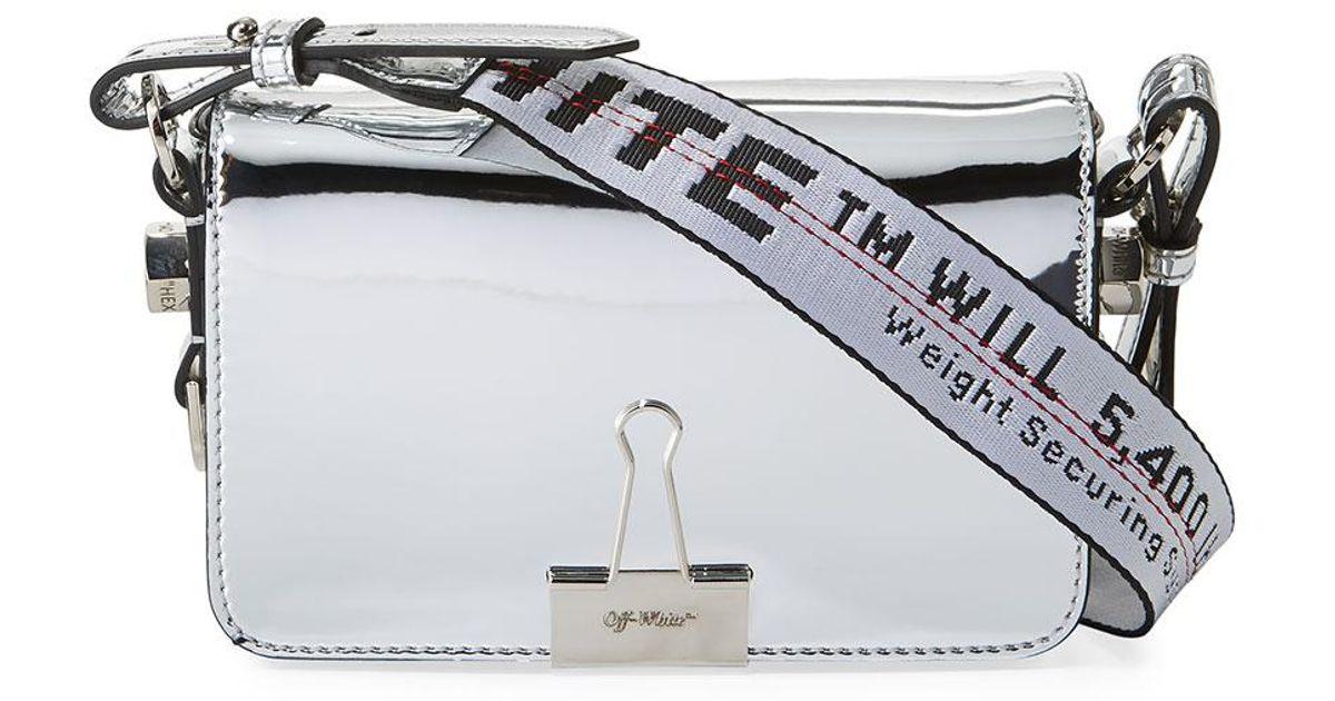 Off-white Mirror Mini Flap Crossbody Bag WLxGlS