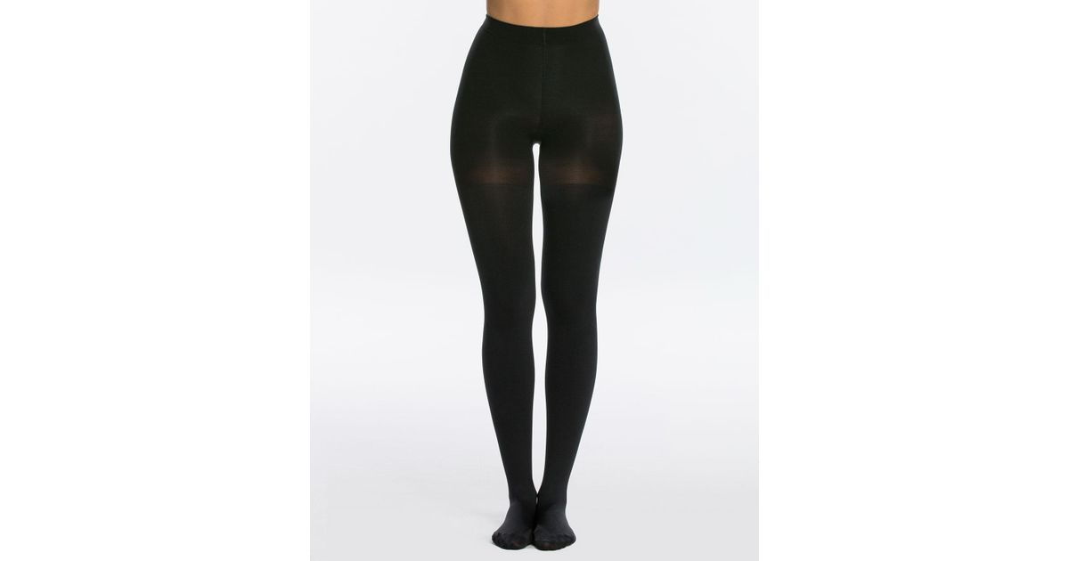 321fe5d379f11 Lyst - Spanx Luxe Leg Blackout Opaque Tights in Black