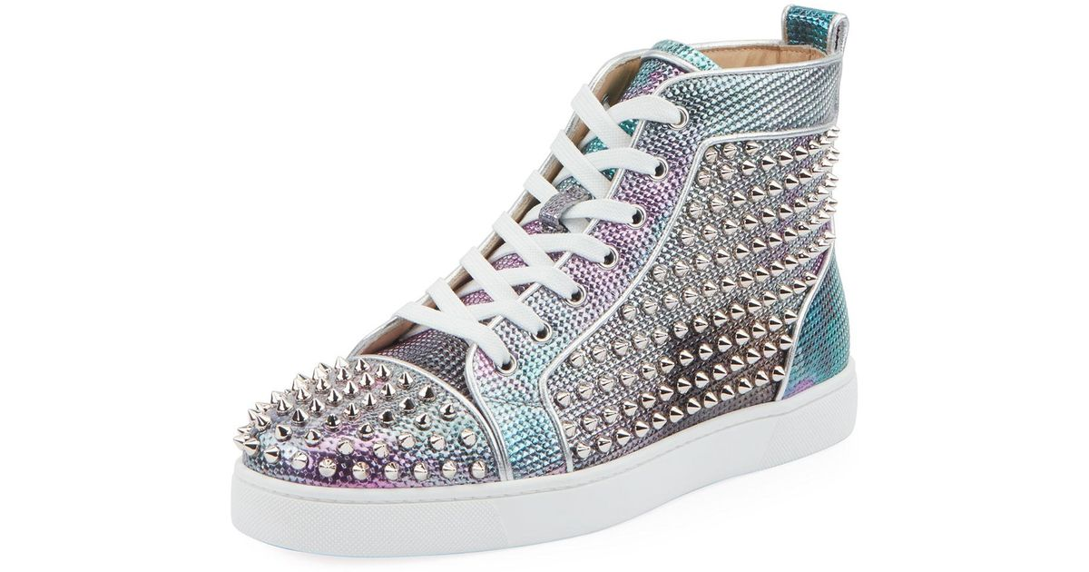 7452f238a46 Christian Louboutin Multicolor Men's Louis Orlato Spiked High-top Sneakers  for men