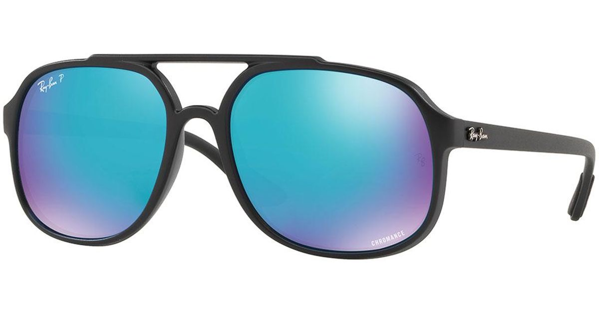 a406261153 Lyst - Ray-Ban Men s Rb4312 Aviator Propionate Sunglasses in Black for Men