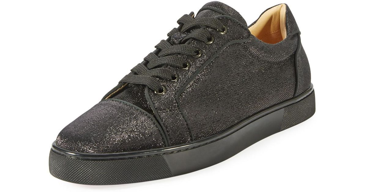 buy popular ab4f5 eeb1f Christian Louboutin Black Seavaste Men's Lace-up Low-top Sneaker for men