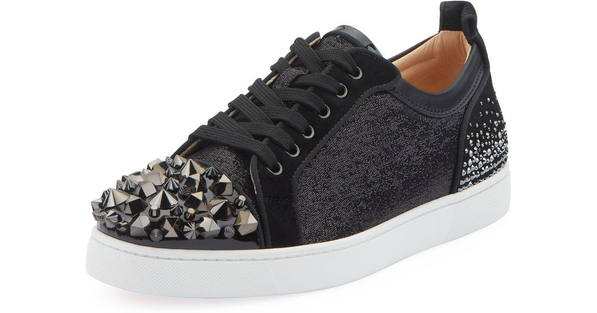 c3a265f0296 Christian Louboutin - Black Men's Louis Junior Spike Low-top Sneakers for  Men - Lyst
