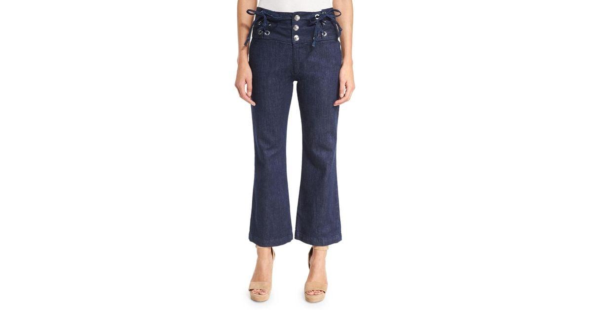 View Cheap Price cropped high-rise trousers - Blue Chloé Sale Shop Qj3W942