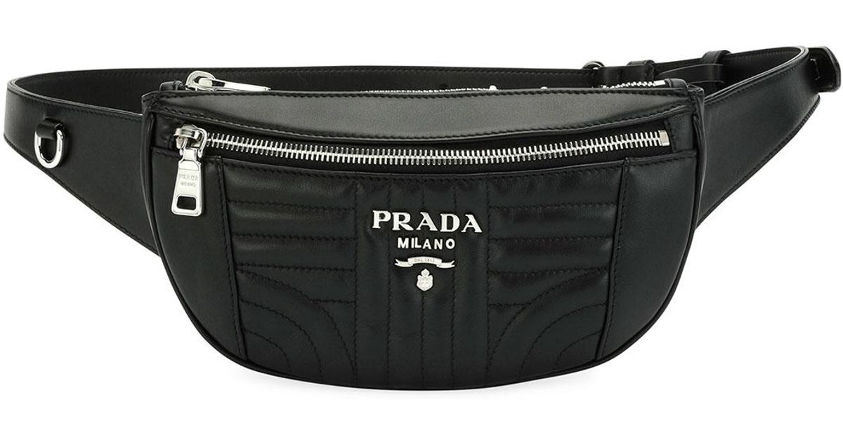 0330db0dc1be ... buy lyst prada quilted leather belt bag in pink for men aa8b6 8d3d4