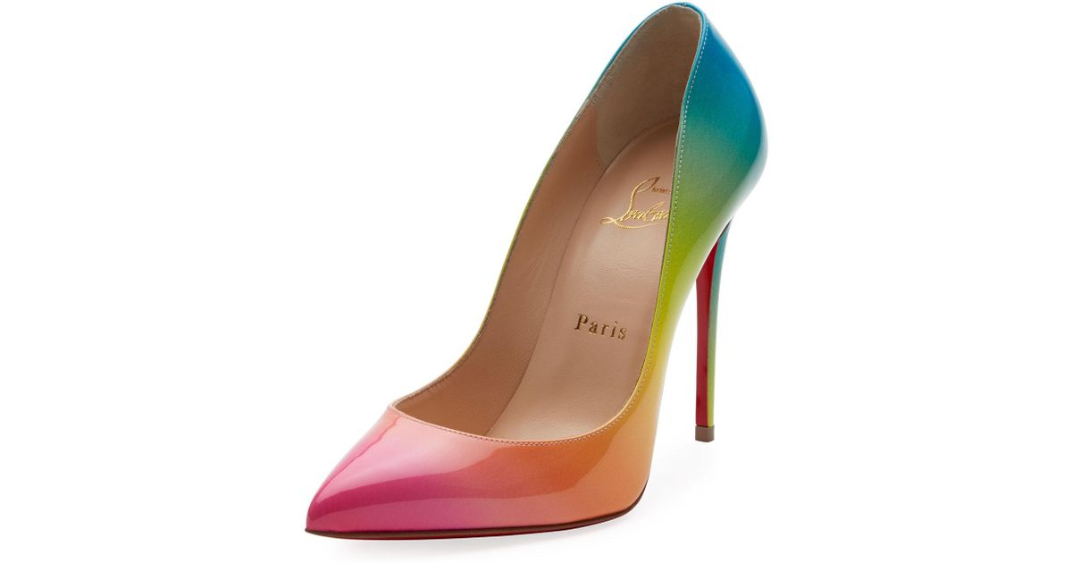 Lyst - Christian Louboutin Pigalle Follies 100mm Ombre Patent Red Sole  Pumps in Brown a56ca3d1e19d
