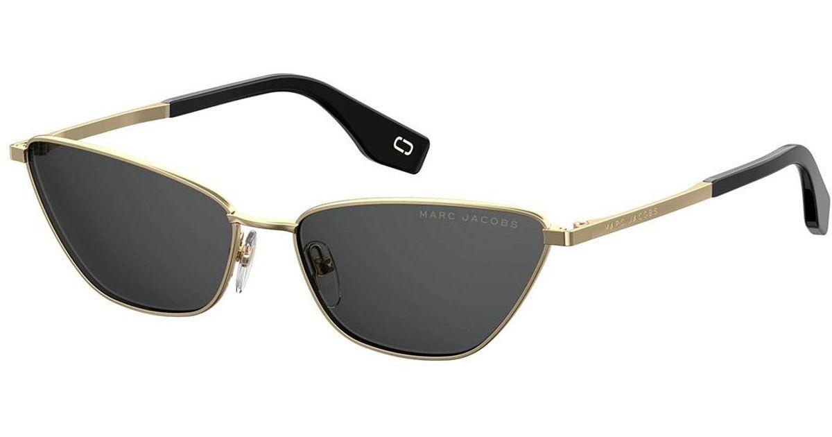 28614720d02d3 Lyst - Marc Jacobs Slim Metal Cat-eye Sunglasses in Pink