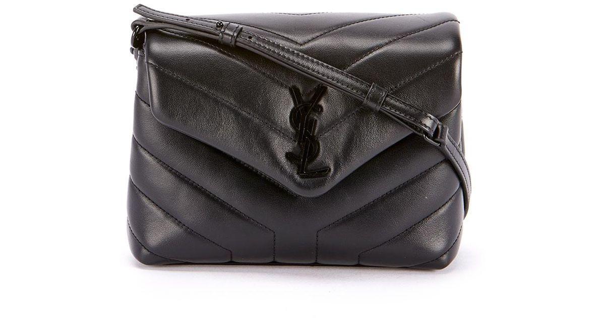 05cda210e10bd Lyst - Saint Laurent Loulou Toy Monogram Ysl Quilted Shoulder Bag in Black