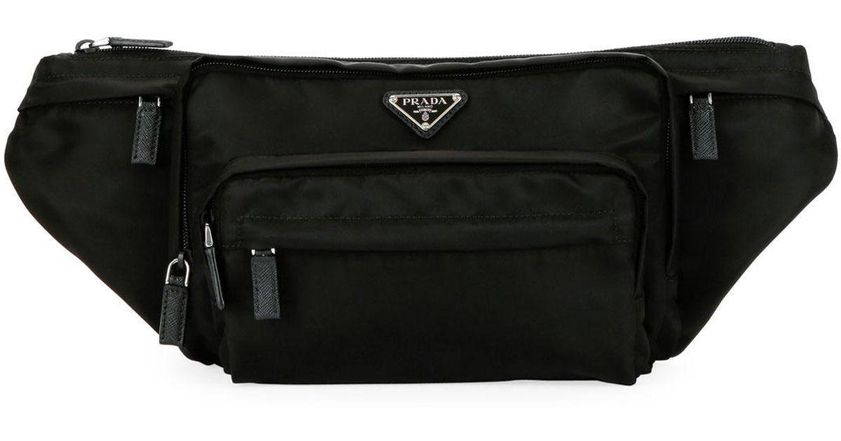 67756ddfff2a Lyst - Prada Men s Tessuto Fanny Pack Bag in Black for Men