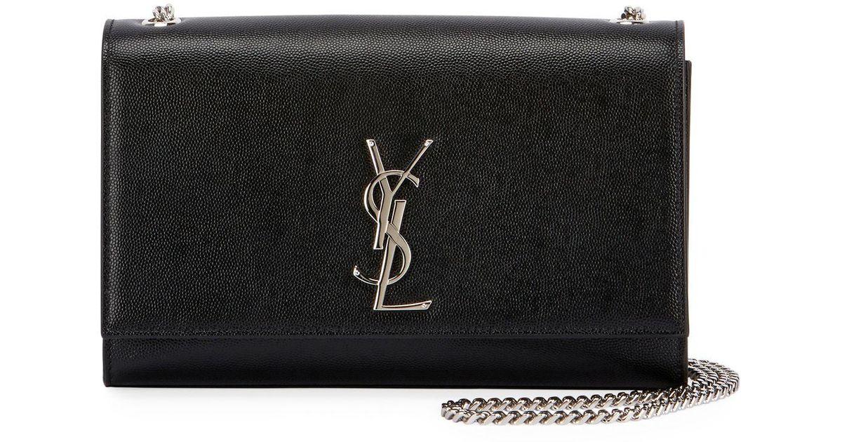 60f47e2c71 Saint Laurent Black Monogram Ysl Kate Small Chain Shoulder Bag