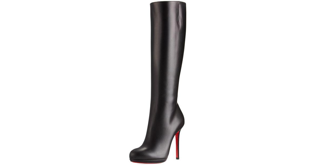 26db9c2dbd0 Christian Louboutin Black Botalili Tall Red Sole Boot