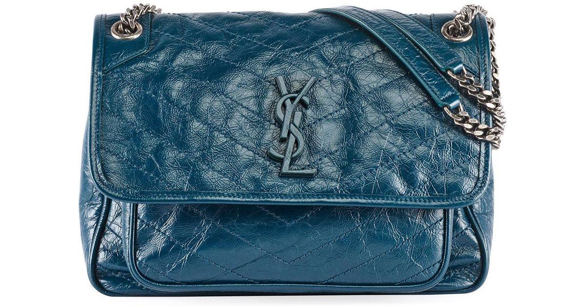 Saint Laurent Leather Niki Medium Monogram Ysl Shiny Waxy