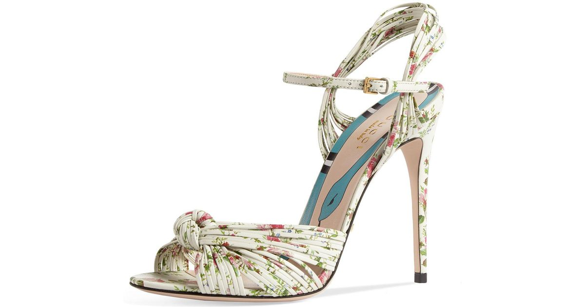 Gucci Allie Floral-print Leather
