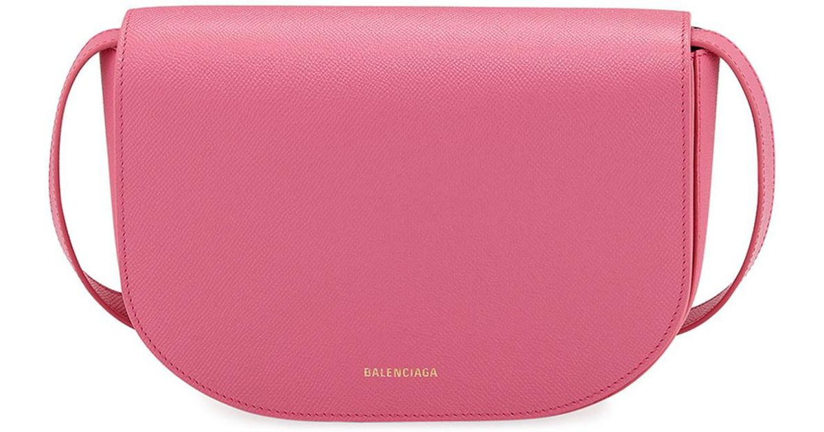 7180ba6ca0 Lyst - Balenciaga Ville Day Small Aj Grained Leather Shoulder Bag in Pink