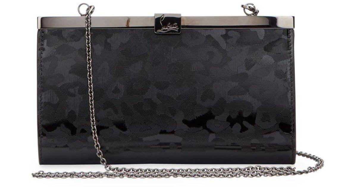 a24afad0206 Christian Louboutin Black Palmette Small Panthera Clutch Bag
