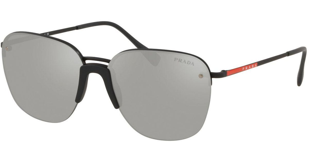 a88de60c1a2fe Lyst - Prada Men s Rimless Metal Sunglasses - Mirrored in Gray for Men