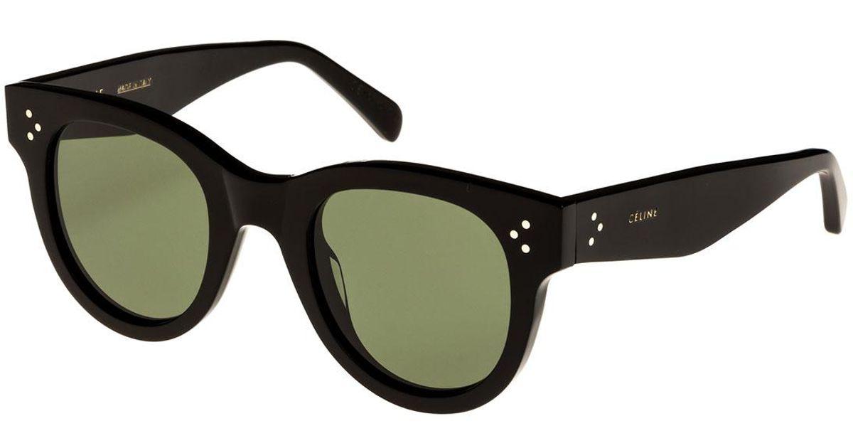 7441f021f390 Lyst - Céline Studded Acetate Sunglasses W  Mineral Lenses in Black