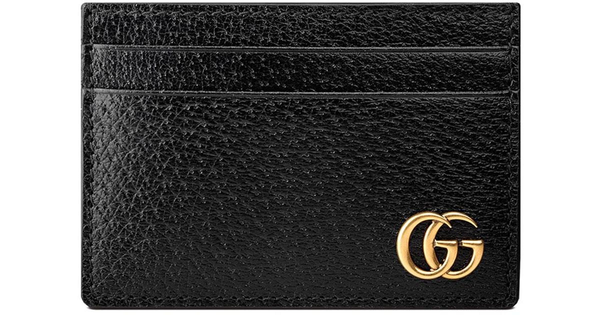 b54bdc587a2b Gucci Men's Leather Credit Card Case With Money Clip in Black for Men - Lyst