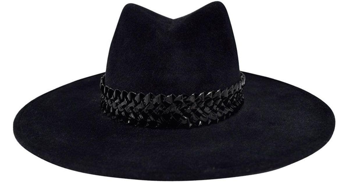 af52b4ccab5c3 Lyst - Gigi Burris Millinery Jeanne Felt Panama Hat W  Racello Braid Band  in Black