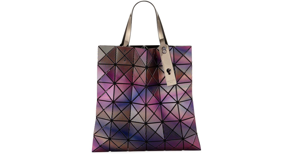 8f6d2a3f9452 Lyst - Bao Bao Issey Miyake Phase Lightweight Collapsible Tote Bag in Pink