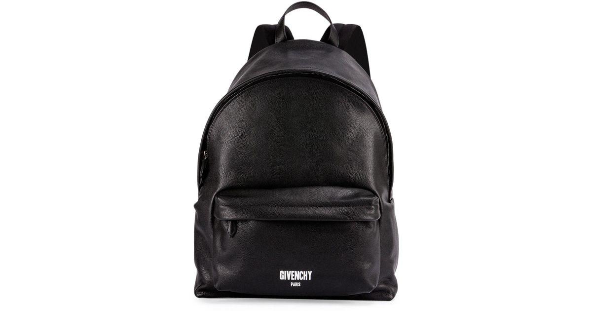 2c0e6d152f78 Lyst - Givenchy Men s Printed Logo Leather Backpack in Black for Men