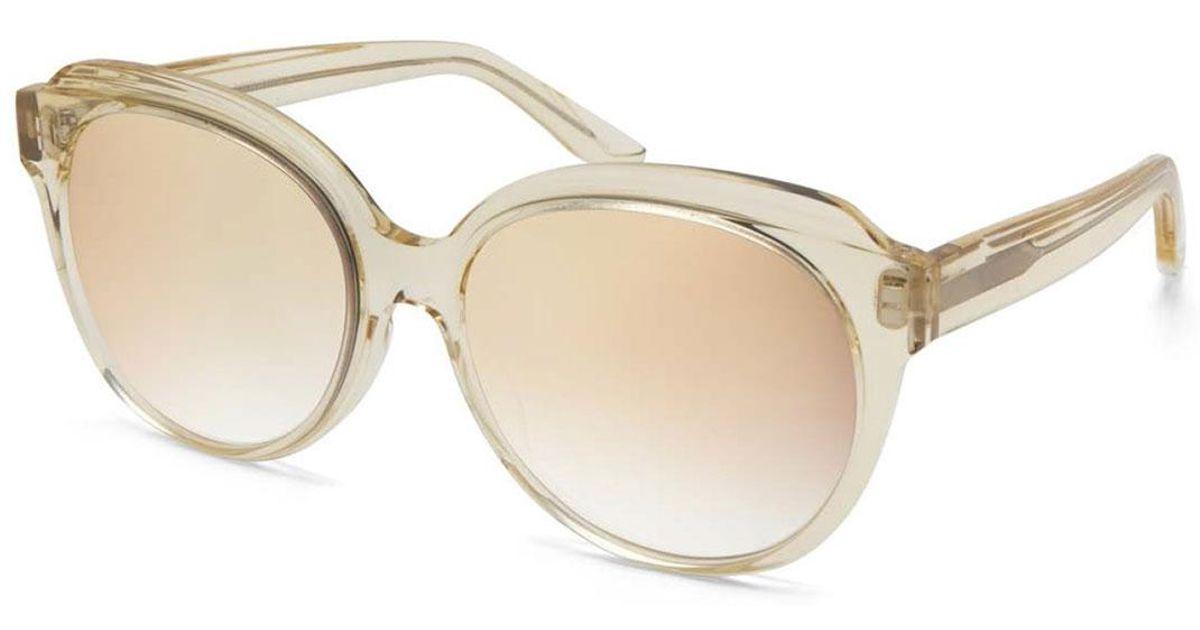 e92b861ede Barton Perreira - Multicolor Marvalette Mirrored Butterfly Sunglasses - Lyst