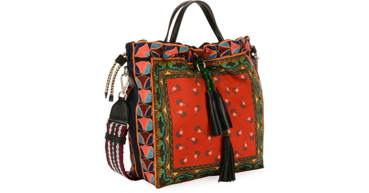 watch 532c4 4860a Etro Red Sac Duchesse Shopping Tote Bag