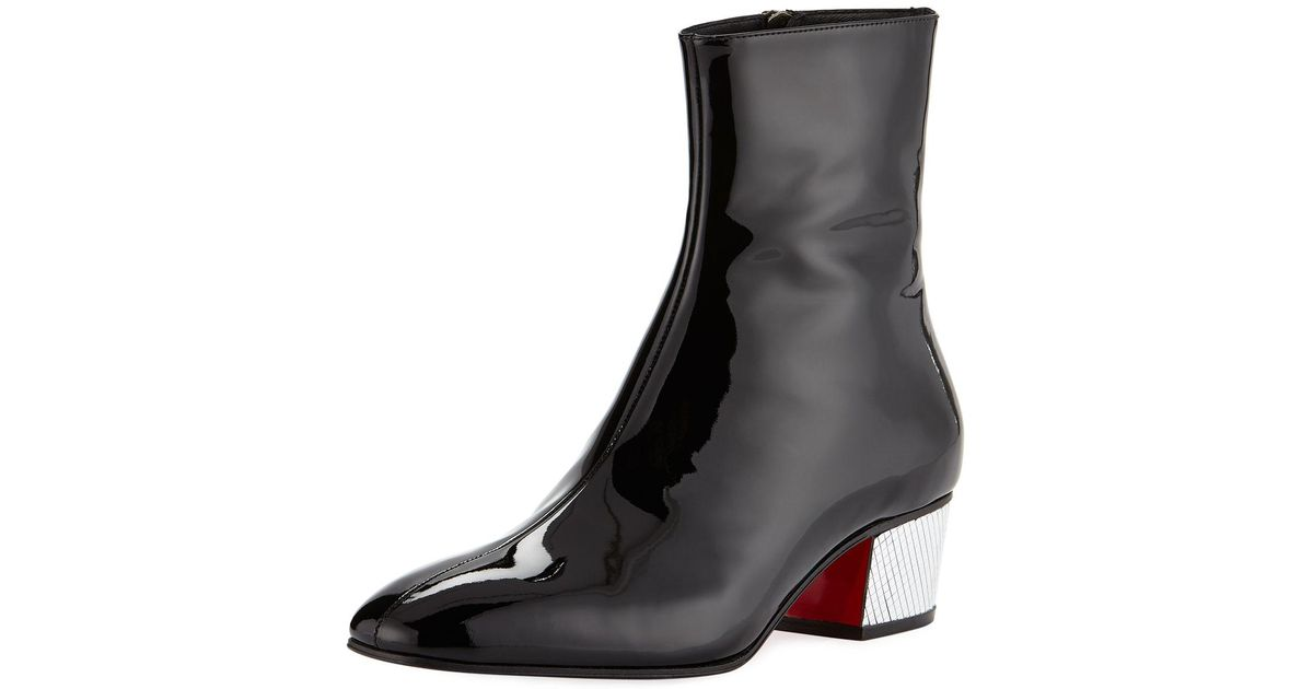 buy online ca000 2b3a1 Christian Louboutin Black Palace Disco Ball Red Sole Ankle Boots