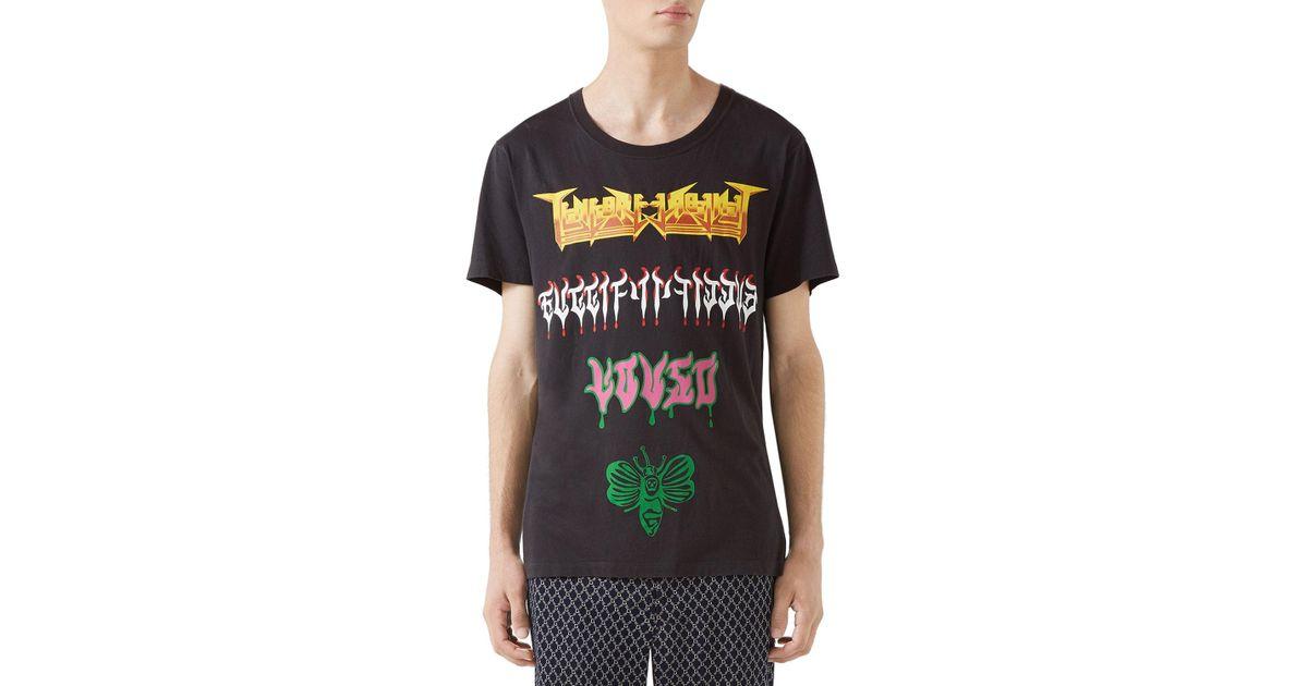 2db22fef Gucci Men's Loved Medley Graphic T-shirt for Men - Lyst