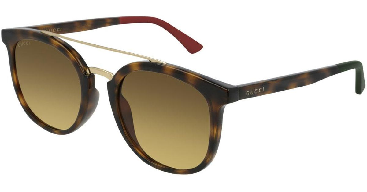 23f840855d95 Gucci Men's GG0403SA003M Injection Sunglasses in Brown for Men - Save 55% -  Lyst